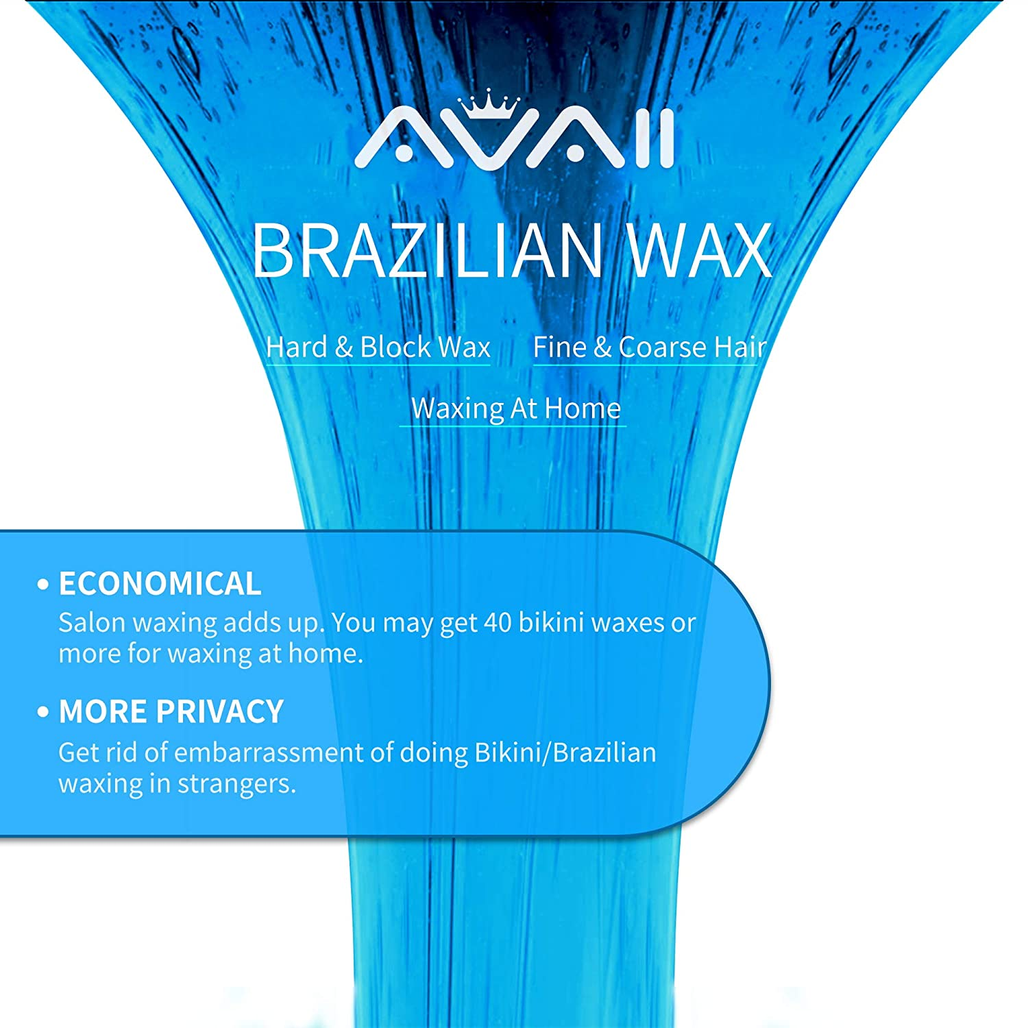 Home Waxing Kit Avaii Painless Hair Removal Waxing Warmer Kit For Full Body Brazilian Bikini Face Eyebrows Legs Underarm With Hard Wax Beans
