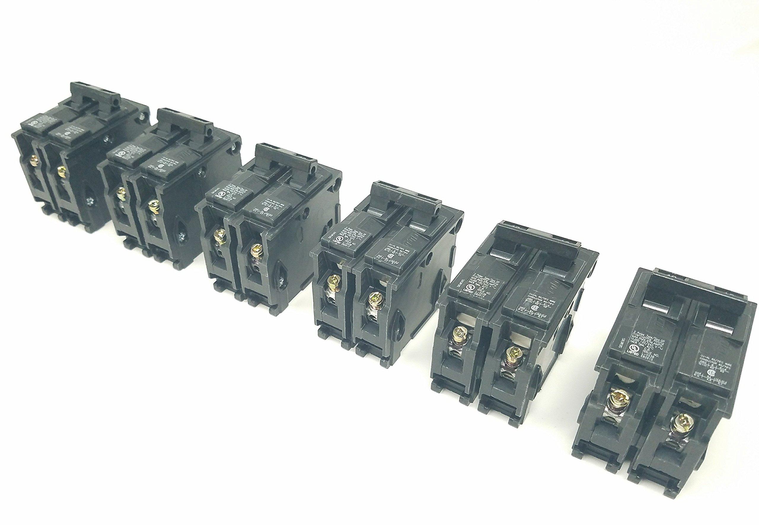 Siemens 40-Amp Double Pole Type QP Circuit Breaker Q240 6 Pack