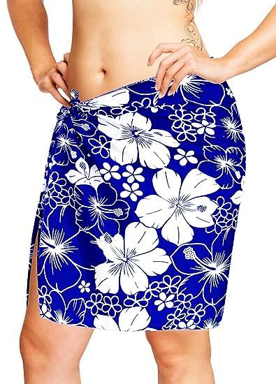 "0f2c6aed47 LA LEELA Likre Casual Bath Swimsuit Girl Sarong Printed 78""X21""  ..."