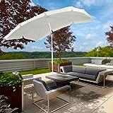 Miadomodo Ombrellone per giardino terrazza balcone esterno 2 x 1,55 m colore beige