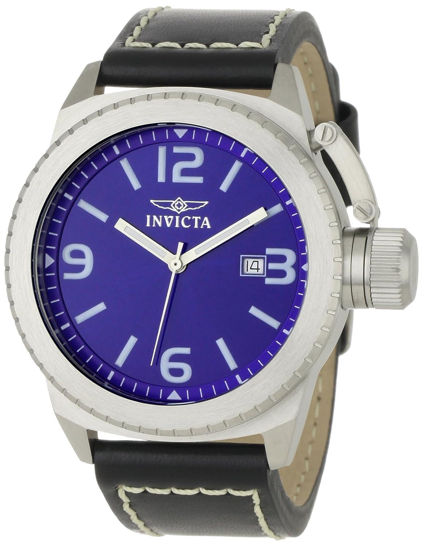 Invicta 1109 - Reloj analógico de caballero de cuarzo con correa de piel negra: Amazon.es: Relojes