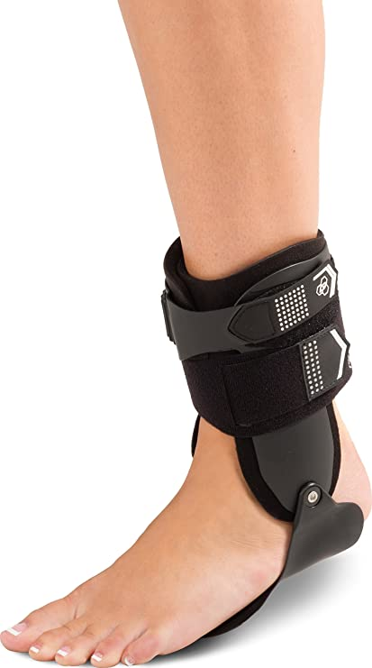 9845cfdf56 DonJoy Performance BIONIC Stirrup Ankle Brace, Maximum Medial/Lateral Ankle  Support, Low-Profile Rigid Brace, Adjustable, Ankle Immobilization for ...