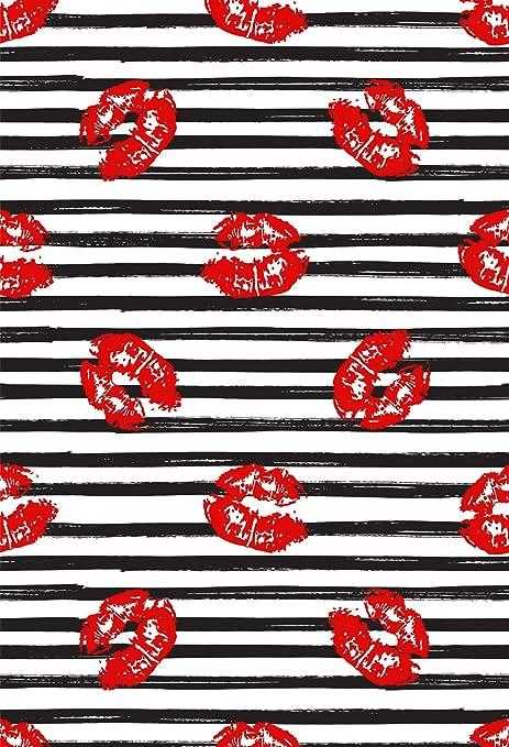 Muzi fondos de fotografía rojo labios en blanco y negro ...