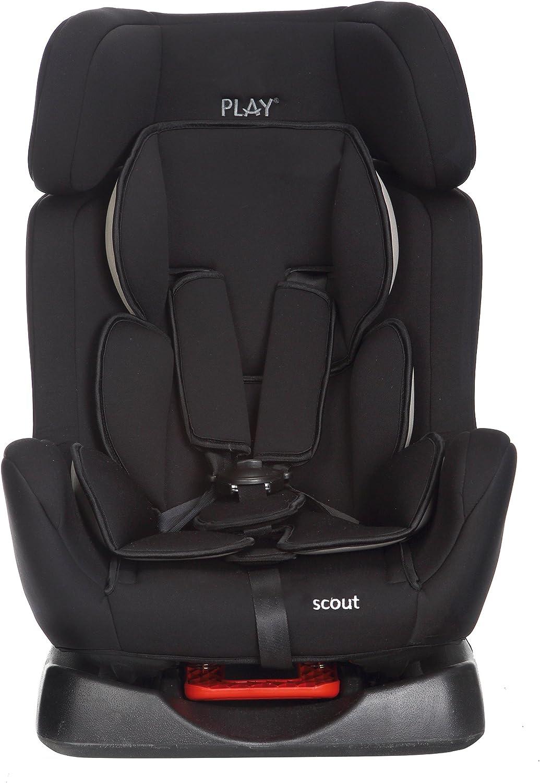 Play Scout - Silla de coche, grupo 0+/1/2 (0-25 kg), color negro ...