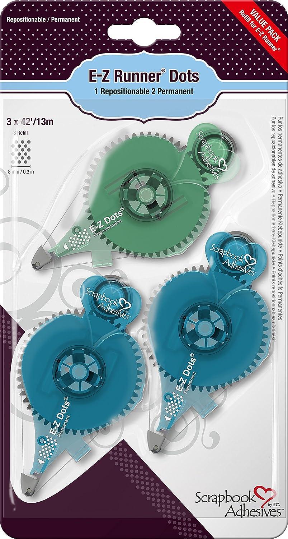 3L Scrapbook adhésifs E-Z Runner Value Pack -1-repo/Pois 2-perm.3-inch x 42, Total 126 01233-8