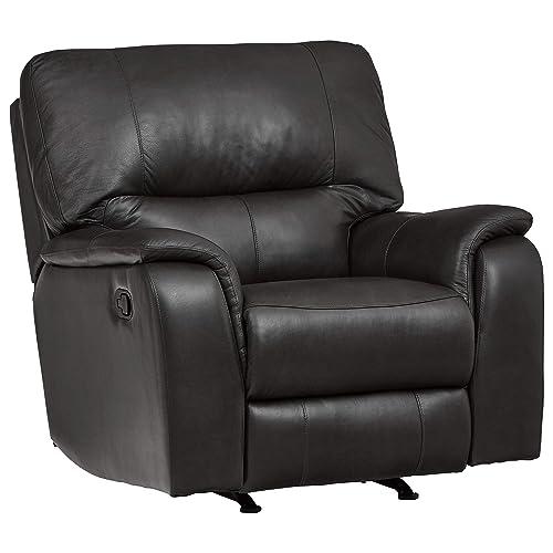 Ravenna Home Saxon Reclining Living Room Chair – 42 Inch, Black Leather