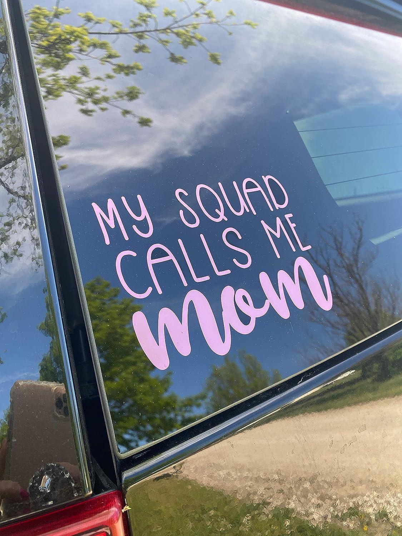 Mom Life Car Sticker 6x4.5 ORIGINAL My squad calls me mom Decal Color Options