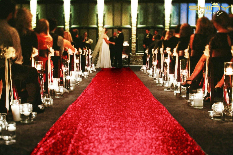 ShinyBeauty Sequin Aisle Runners 2Ft x 15Ft Red Carpet Runner for Party Glitter Runner for Wedding ~N1.16