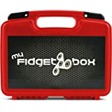 """Life Made Better Storage Organizer - Fidget Spinner Box 12"""" Holds 17 Fidget Spinners High End Custom Foam Available in Black, Red, Blue And Accessories- Durable Carrying Case - Red"""