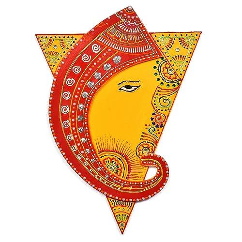 Amazon.com: Shakti Triangle with Ganesh Wall Decor Painting - Yellow ...