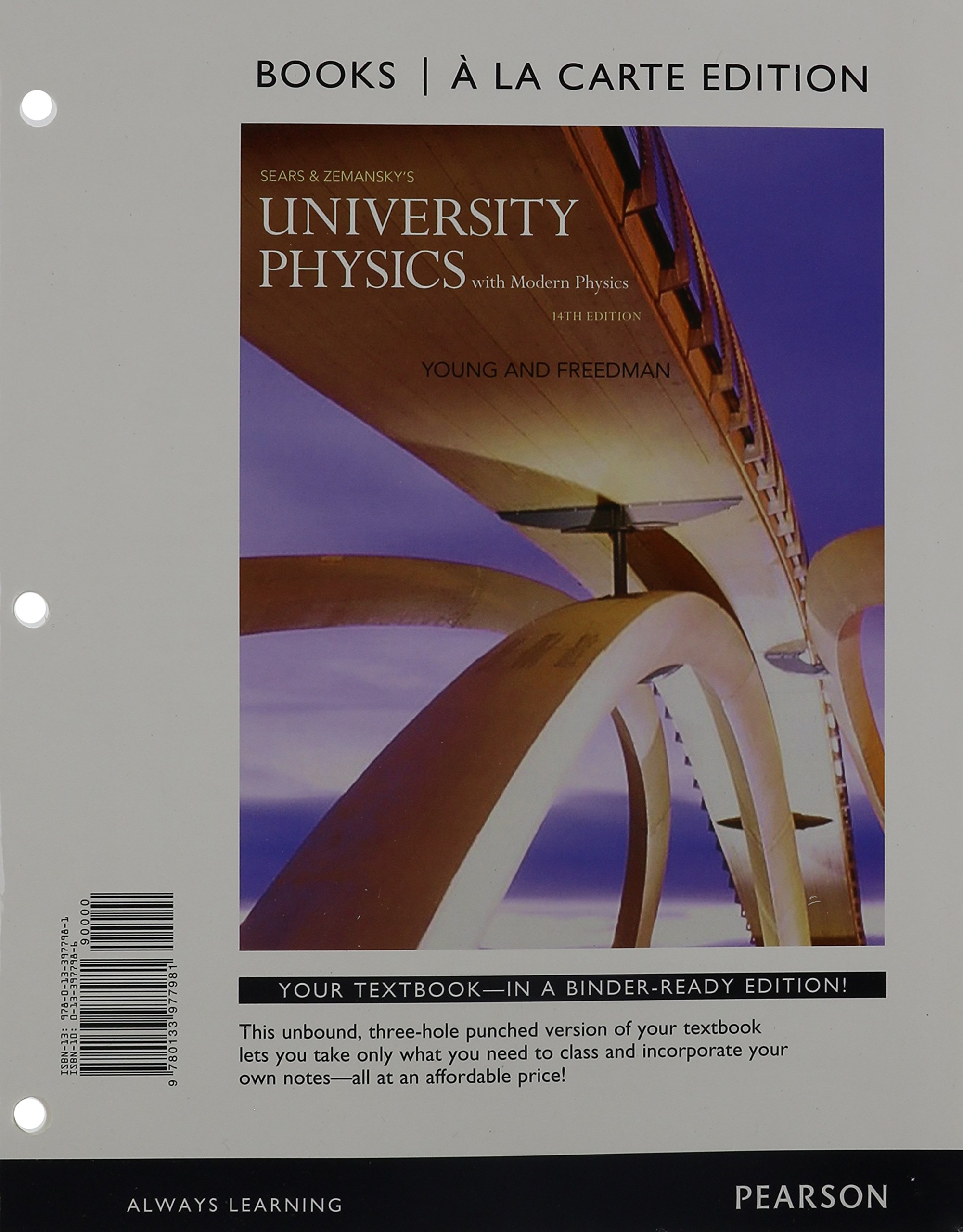 University Physics with Modern Physics, Books a la Carte Edition (14th  Edition): Hugh D. Young, Roger A. Freedman: 9780133977981: Books - Amazon.ca