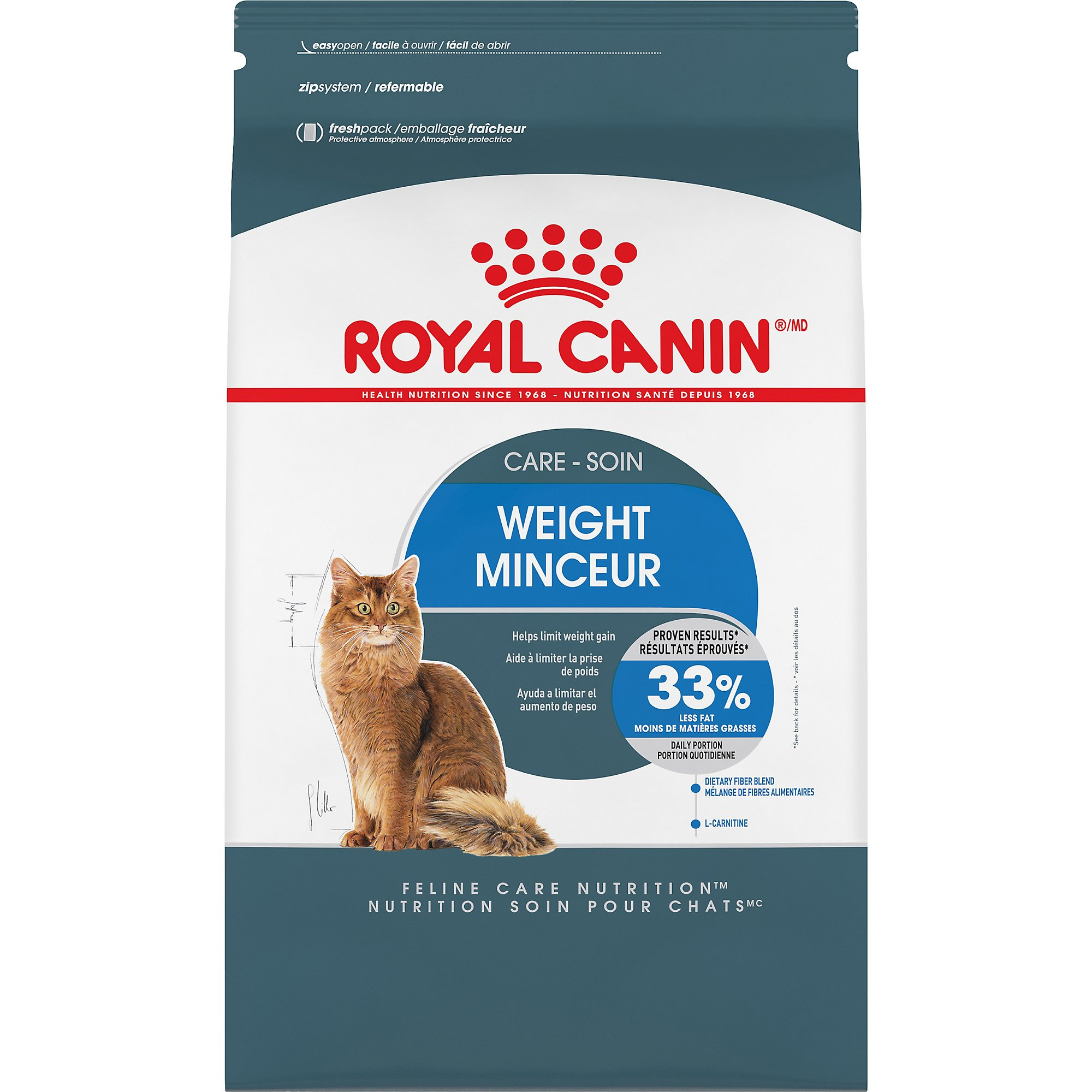 Royal Canin Feline Care Nutrition Weight Care Adult Dry Cat Food, 3 lb