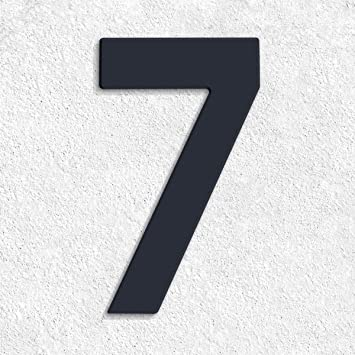 Moderne Hausnummern Edelstahl thorwa moderne design edelstahl hausnummer 7 future stil anthrazit
