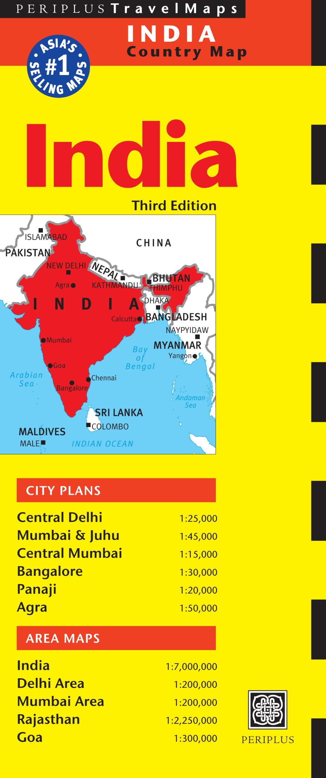 India Travel Map Periplus Travel Maps Amazon Co Uk Periplus