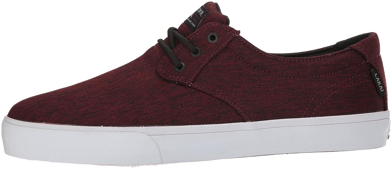 Lakai Daly Skate Shoe B073SPF99N 6.5 M US|Burgundy Textile