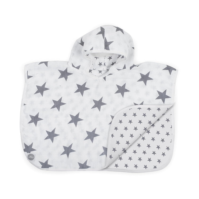 Jollein 533-558-65009 Badeponcho Mull Little Star 45 x 60 cm grau