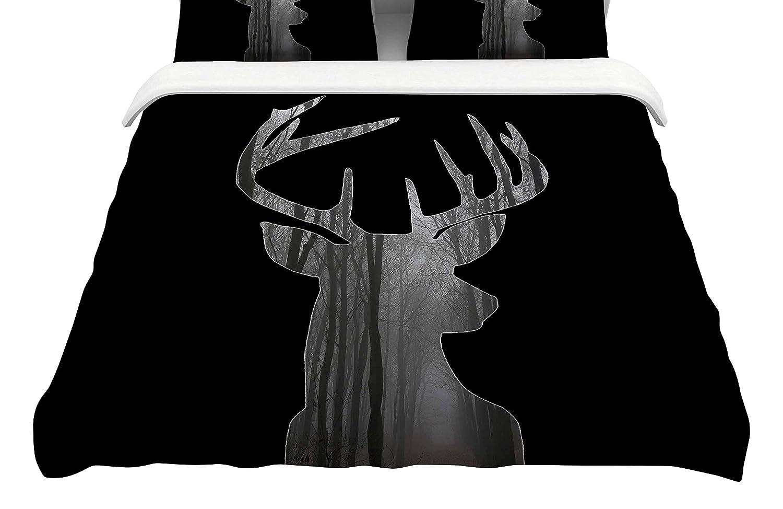 104 x 88, Kess InHouse Suzanne Carter The Road Contemporary NatureKing Cotton Duvet Cover