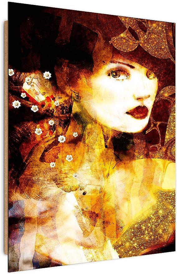 Image Photo Gustav Klimt Home Decor Wall Art Portrait Brown 40x60 cm: Amazon.es: Hogar
