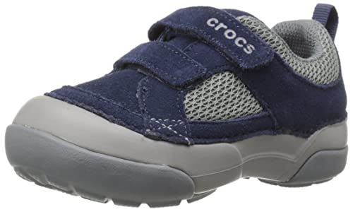 Crocs Dawson Hook & Loop - Zapatillas Infantil, Color Azul (Navy/Light Grey