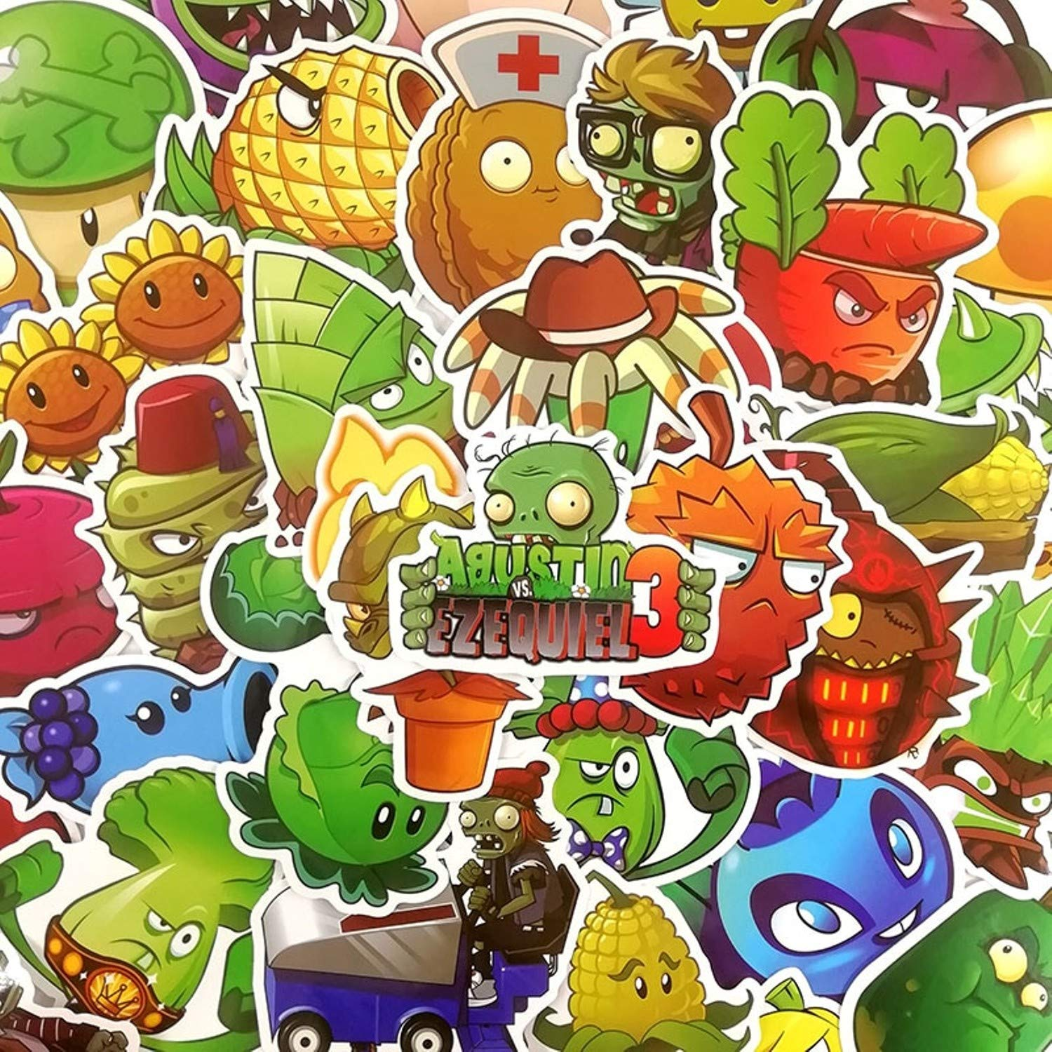 Plants Vs Zombies Graffiti Stickers 50 Pcs//Set Cute Cartoon Stickers for Laptops Bikes Bedroom Luggage Bicycle Mac-Book Cars Travel Case Bicycles Motorcycle Bumpers Snowboard, Skateboards