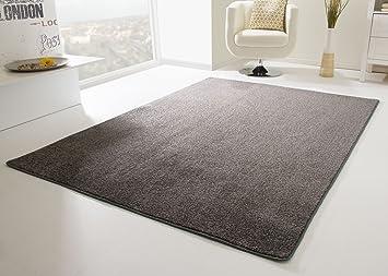 Moderne Gunstige Designer Teppiche Kurzfloor Meliert Einfarbig Uni Teppich