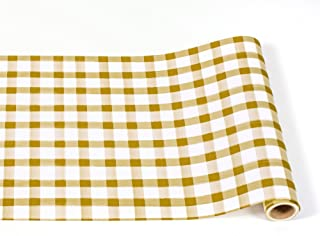 "product image for Hester & Cook Paper Table Runner 20"" x 25' Roll (Gold Painted Check)"