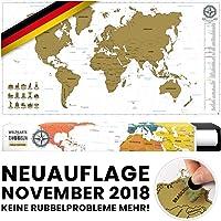 #benehacks Rubbelweltkarte Deutsch Gold