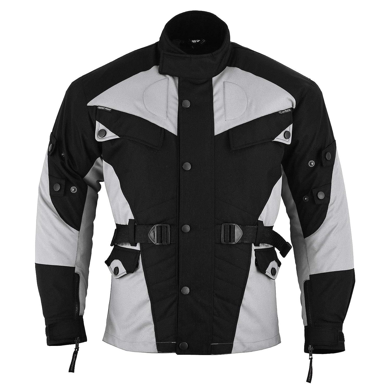 German Wear, traje para moto de Cordura, combo: chaqueta y pantalón de motociclista, negro/gris claro