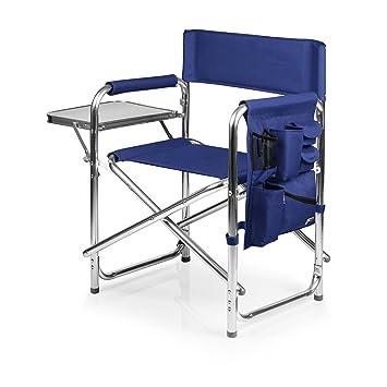 Picnic Time Portable Folding Sports Chair, Navy