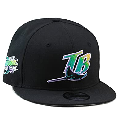 cheap for discount 765dd e8189 New Era 9fifty Tampa Bay Rays Snapback Hat Cap Black