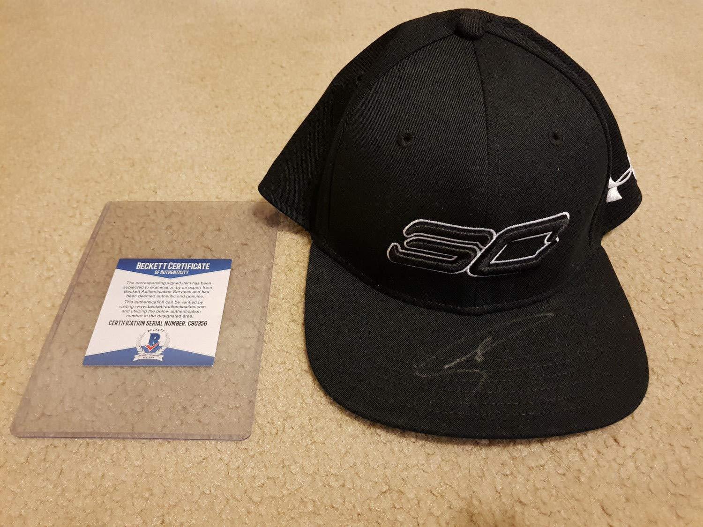 Stephen Curry Warriors Sc Under Armour Black Hat Cap Autographed Signed Memorabilia Autograph Bas