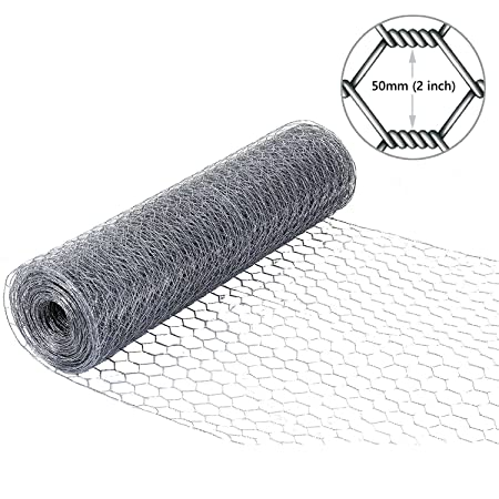 Simpa® Galvanised 50M x 1.2M (164FT x 4FT) Chicken Wire Poultry ...