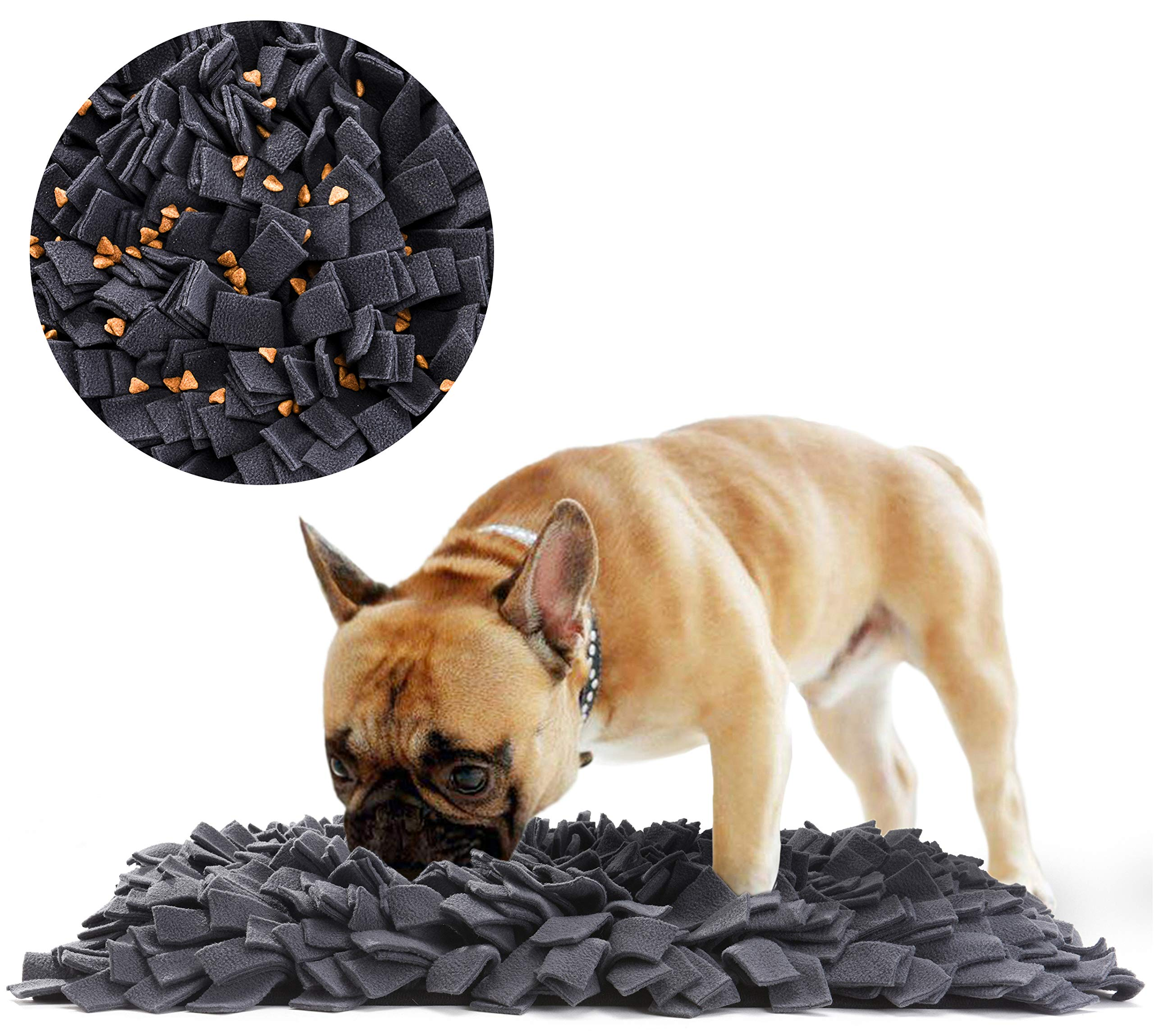 Tamu style Dog Snuffle Mat for Feeding, Hunting, Foraging (12½'' x 18½'') Playful Food and Treat Surface & Small, Medium, Large Breed Pets & Durable, Reusable, Machine Washable
