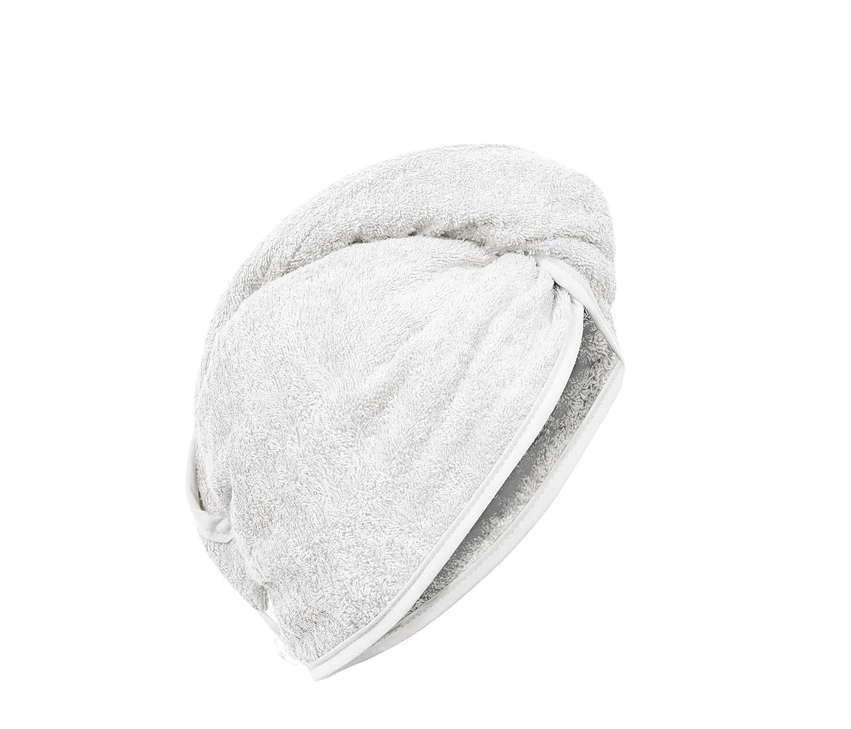 Carenesse Capelli Turbante biancho, 100% cotone, 24 x 70 cm, asciugamano capo, asciugamano per capelli, turbante per capelli