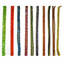 AM Metal Chain & Coloured Stones for Jewelry Making/Crafts ,10 Colors