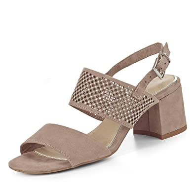 Sandale, Groesse 37, Taupe Marco Tozzi