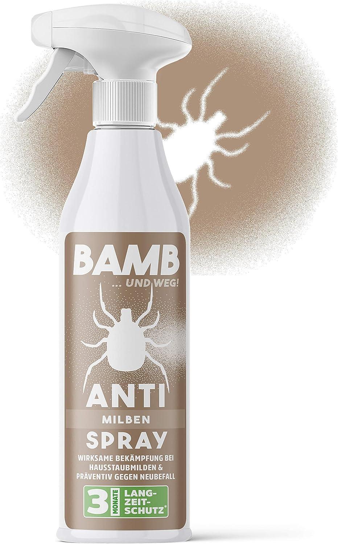 Spray antiácaros para colchones - 500 ml de spray antiácaros - complemento antiácaros para funda de colchón - Espray ideal para ácaros del polvo