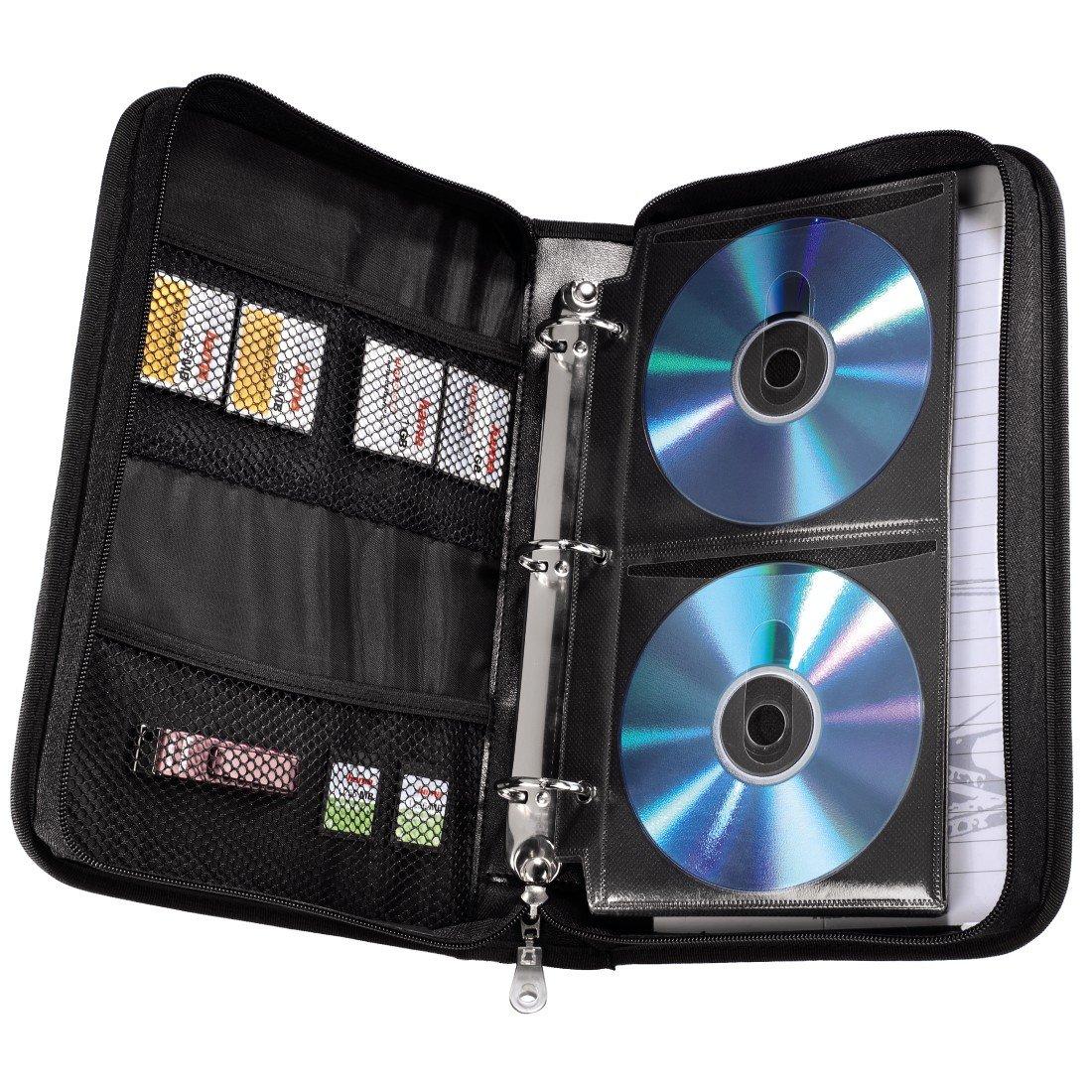 Hama CD Aufbewahrung Tasche Mappe schwarz grau: Amazon.de: Computer ...