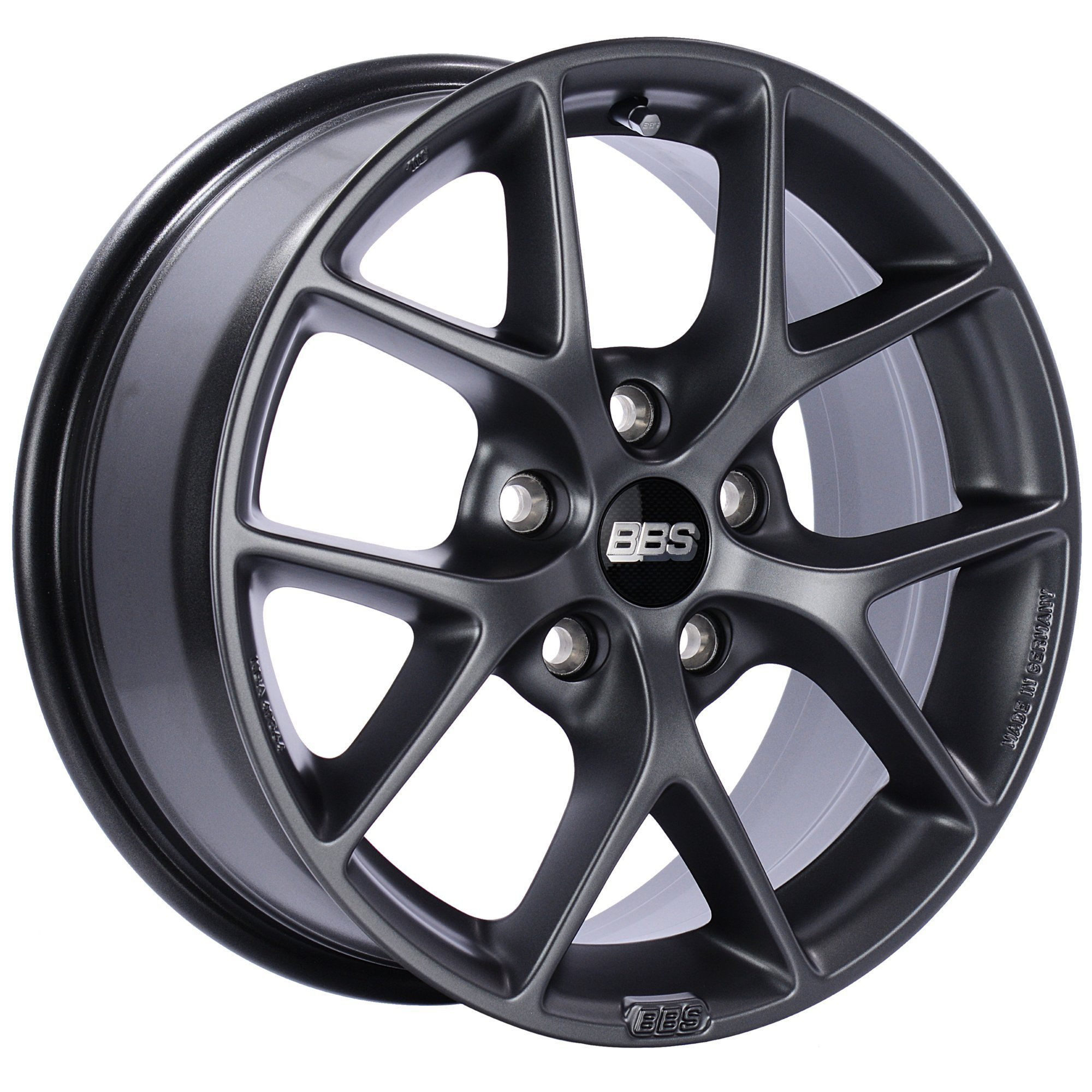 BBS SR Satin Grey Wheel with Painted Finish (18 x 8. inches /5 x 112 mm, 35 mm Offset)