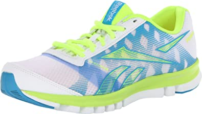 6e3bb6bc79d9 Reebok Footwear Womens SubLite Duo Chase Running Shoe White Neon  Yellow Blue Blink 6 B(M) US  Buy Online at Low Prices in India - Amazon.in