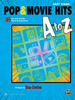 pop movie hits a to z 45 fun and familiar piano arrangements easy piano