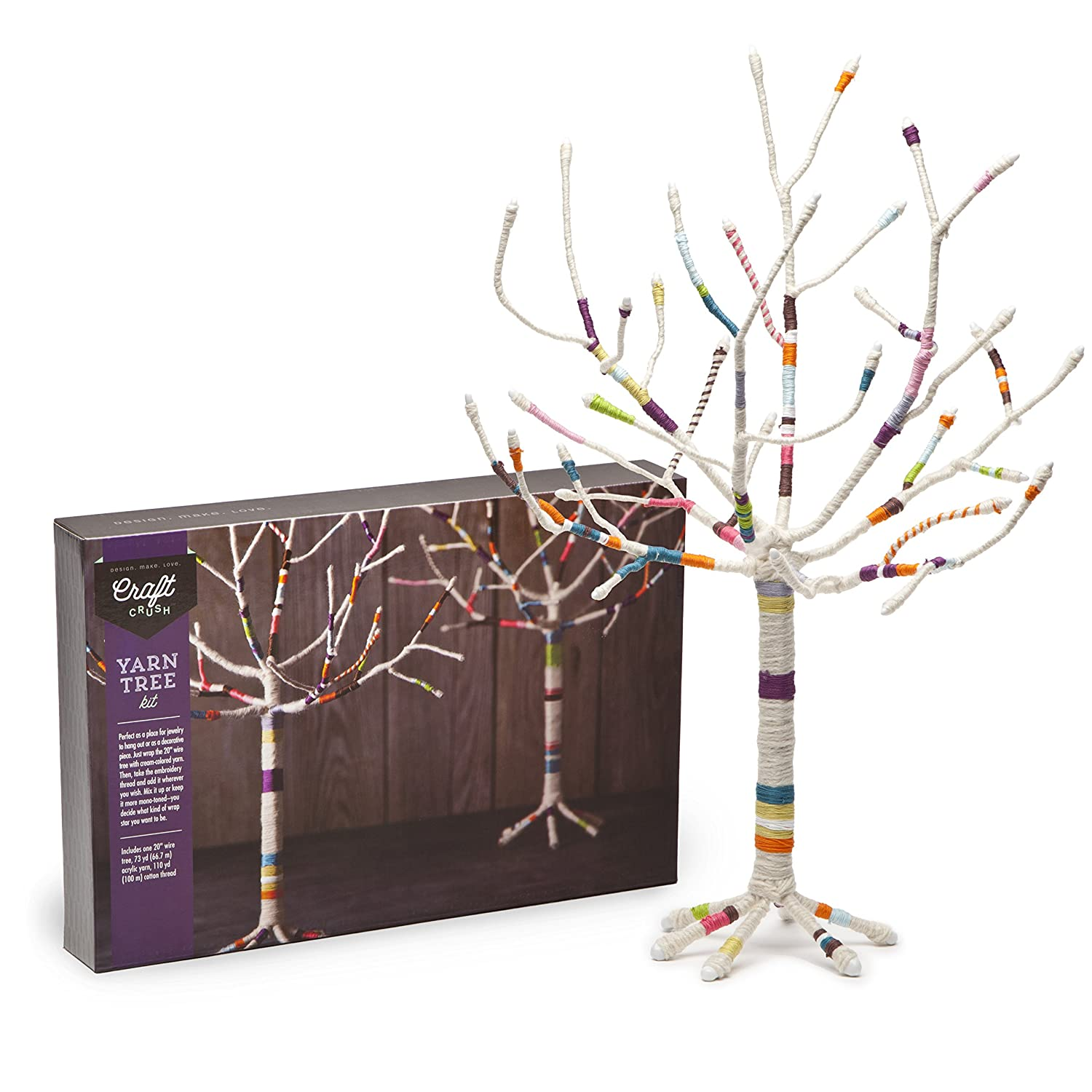 Amazon.com: Craft Crush Yarn Tree   Create A Jewelry Stand Or Home Décor  Piece   Crafting Kit For Teens U0026 Adults: Arts, Crafts U0026 Sewing