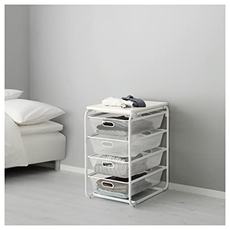 IKEA Algot - Frame/4 cestas de malla/estante superior, color ...