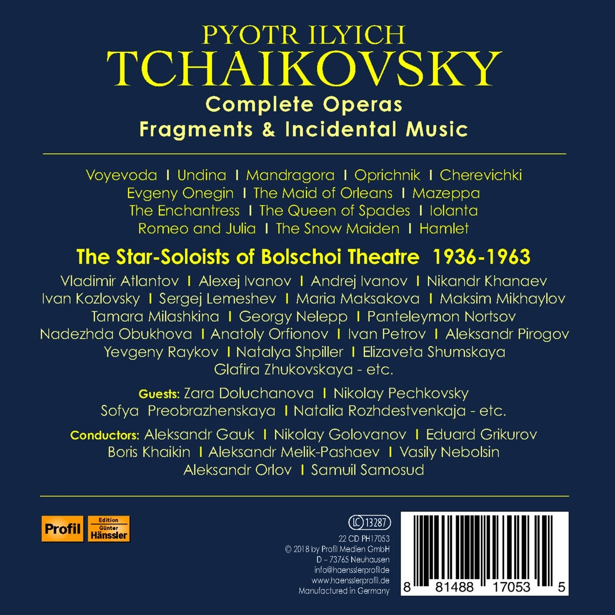 Tchaïkovsky, les opéras - Page 6 81yi4EoevyL