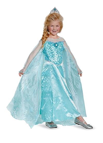 f956f4609 Amazon.com  Child Elsa Costume Prestige Frozen Costume Disney ...