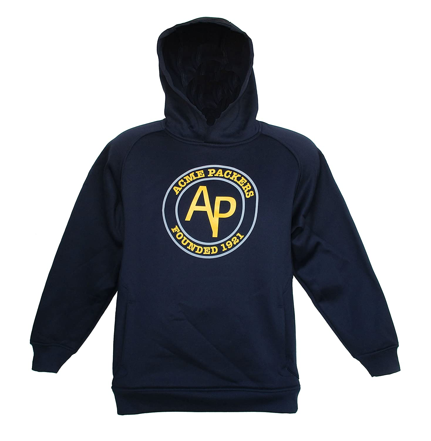 Amazon.com   ACME Packers   Green Bay Packers Throwback Hooded Sweatshirt  YOUTH Small (8) - Navy Blue   Gold   Sports   Outdoors 89bfa02e7