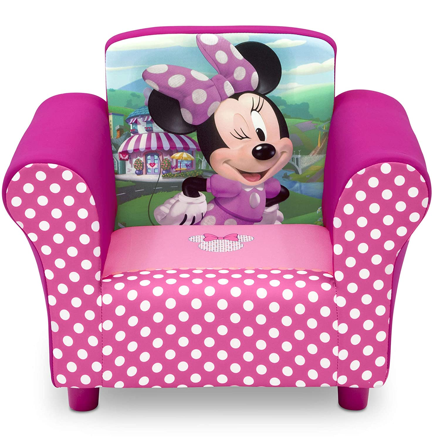Strange Delta Children Disney Minnie Mouse Upholstered Chair Pdpeps Interior Chair Design Pdpepsorg