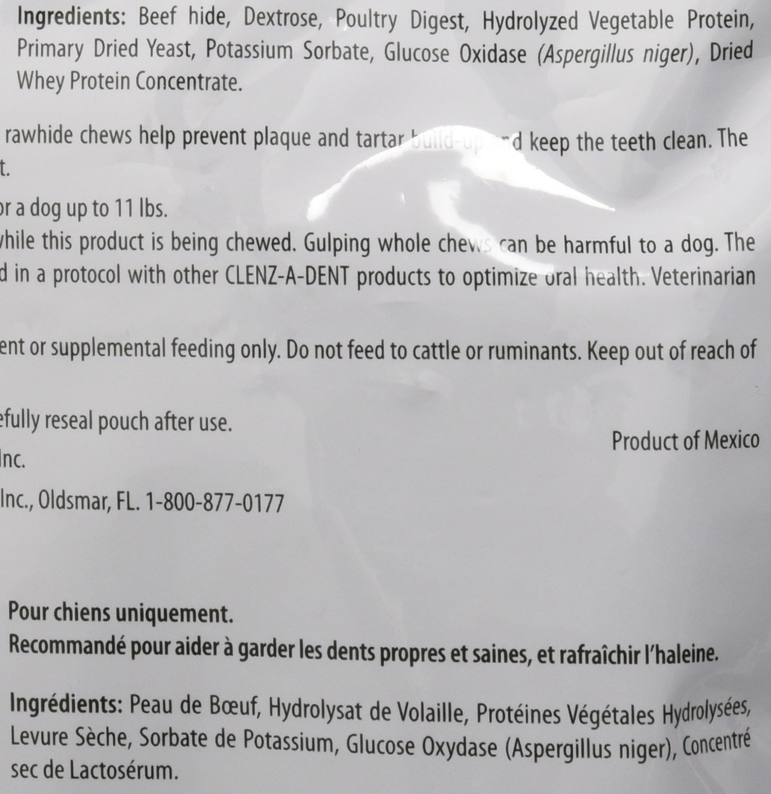 CEVA Animal Health CLE06130 Clenz-A-Dent 30 Count Rawhide Chews for Small Dogs by CEVA Animal Health (Image #2)