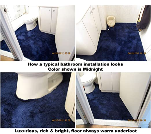 Amazoncom Bathroom carpet 5 FtWide 23 colorsCustom lengths