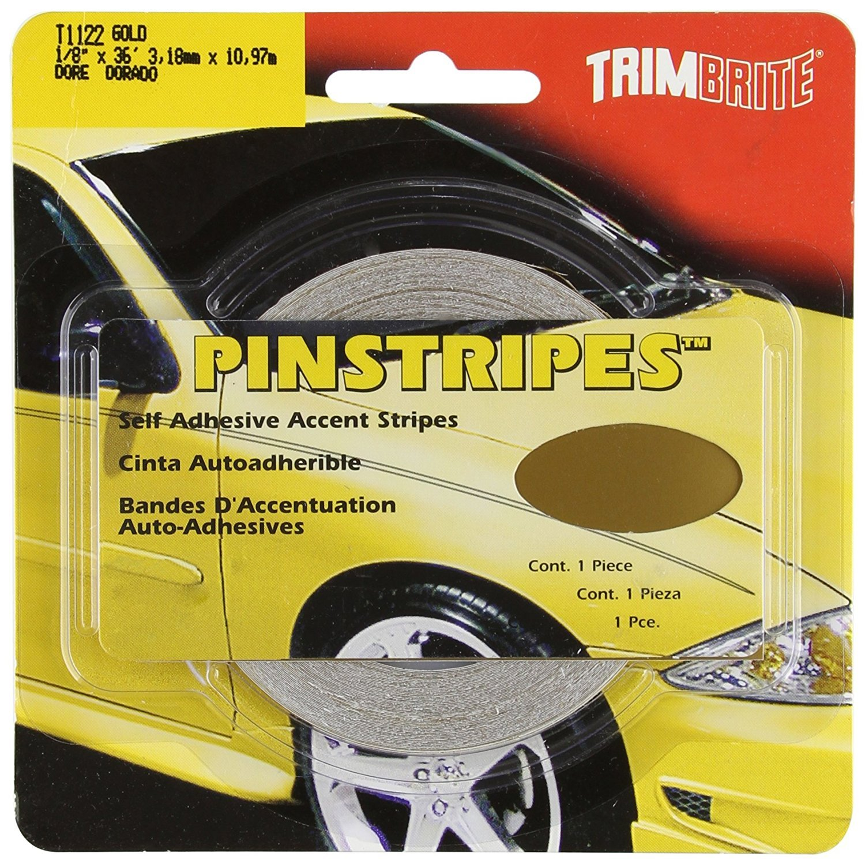 Trimbrite T1122 1//8 Pinstripe Tape Gold